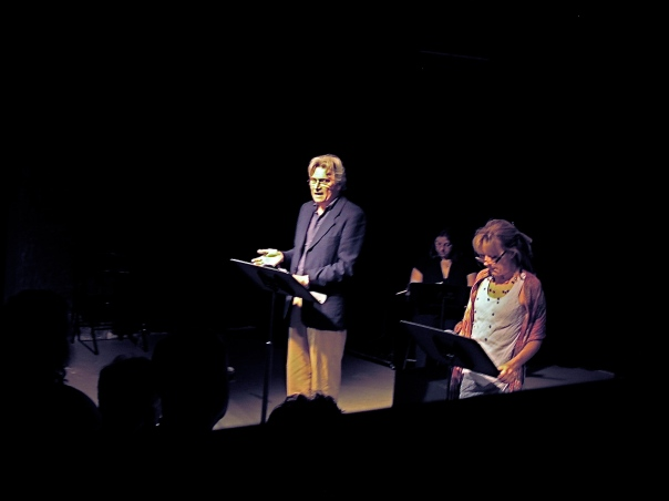 Staged reading from my point of view in the light booth
