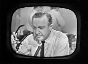 Cronkite reporting the death of JFK in 1963